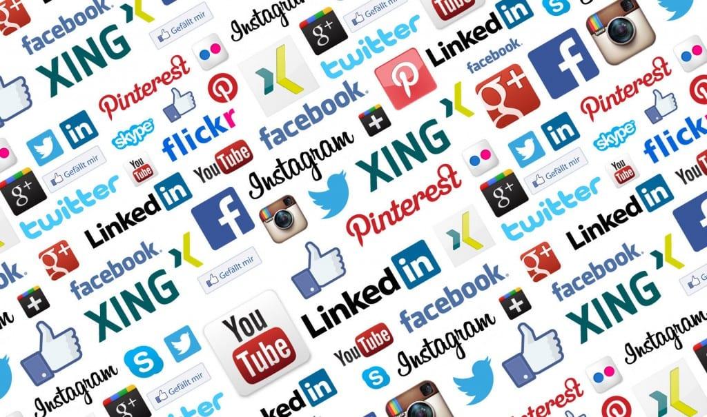 Social Media Twitter Facebook Linkedin Pinterst