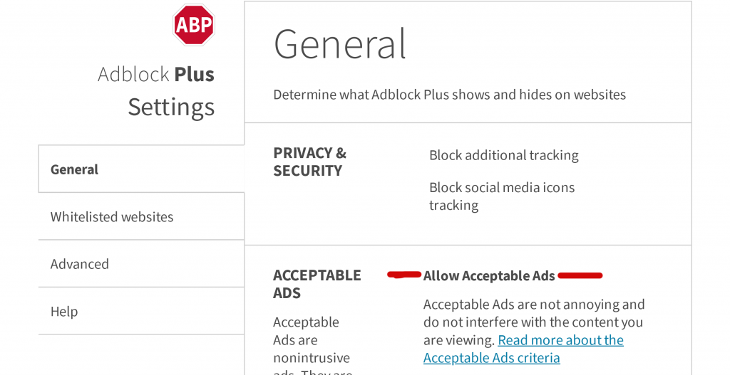 Adblock Plus Options | PTsupport recommended security Google Chrome extension